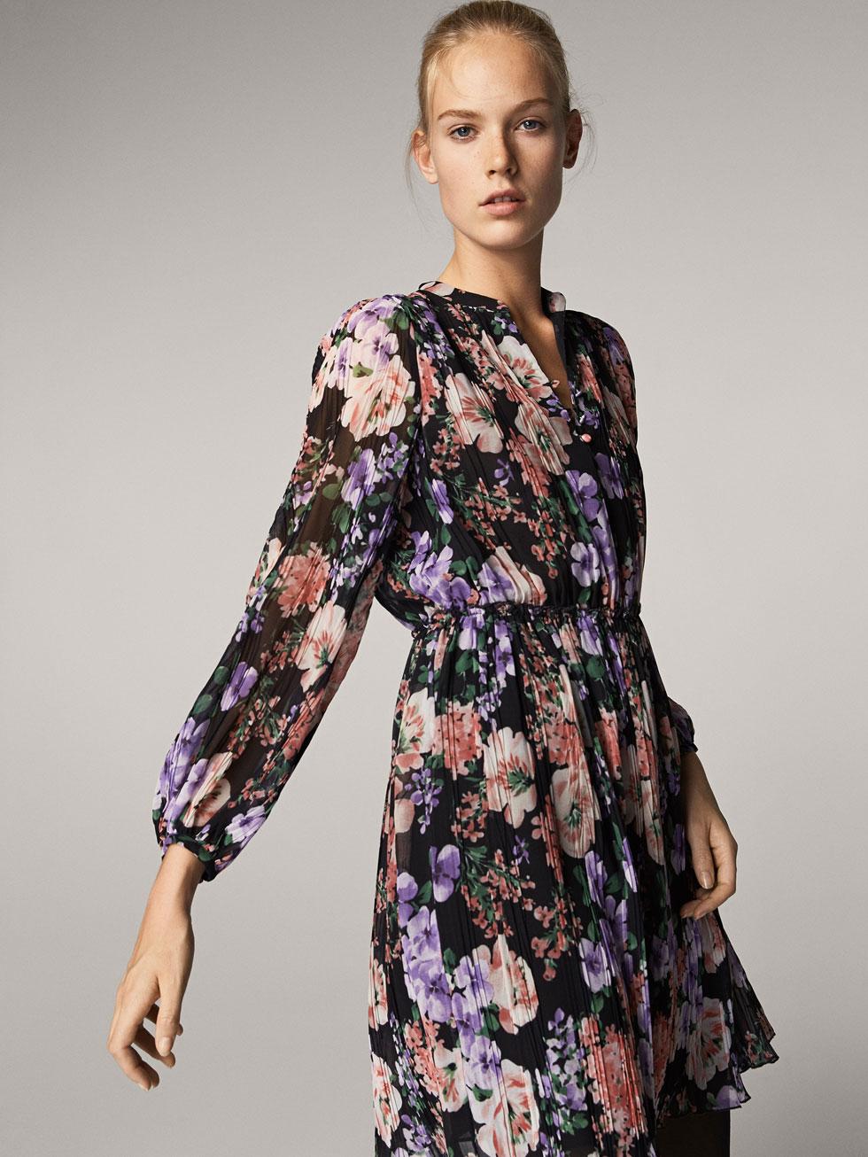 Massimo Dutti - Floral Print Dress